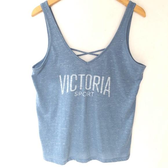4955911ccf1f6 Victoria's Secret Sport Tank Top Criss Cross L